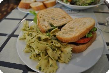 PLT and pesto pasta salad