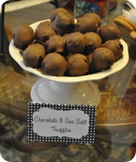 Chocolate sea salt cake truffles