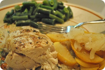 chicken with apples and onions