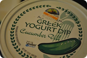 greek yogurt dip with cucumber and dill