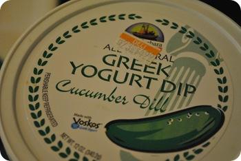 greek yogurt dip with cucumber and dill