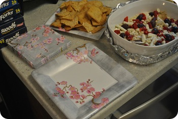 Greek dip and pretty plates