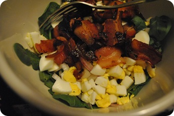 bacon vinaigrette salad