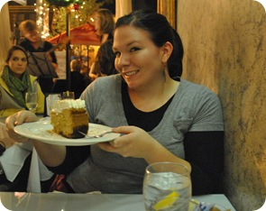 Lizzie and pumpkin cheesecake