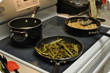 dinner on the stove