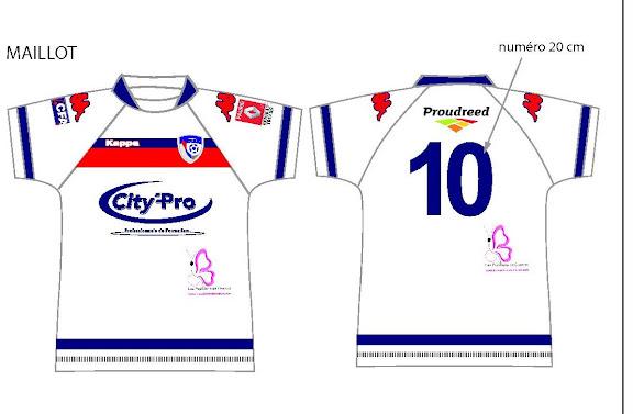 Les maillots portés par les joueurs du Bergerac Foot pour la saison 2009-2010