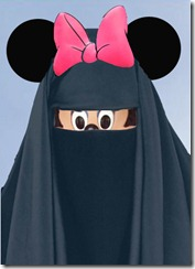 Muslim Minnie Mouse in Burqa