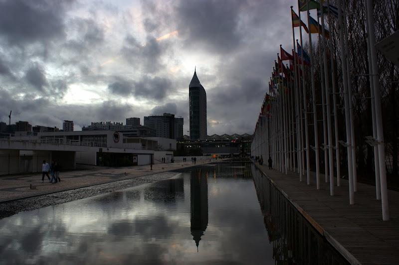 Crepúsculo no parque das nações