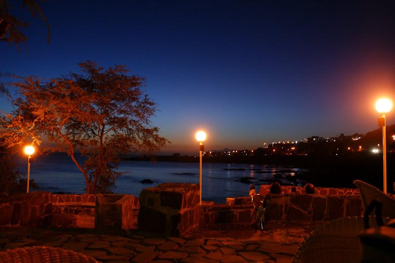 Fim de tarde com vista para a praia de quebra canela, Cabo verde