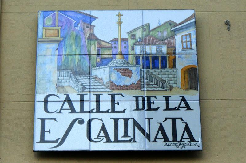 Madrid, calhe de la escalinata