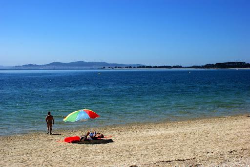 Praia na Ilha de Arousa