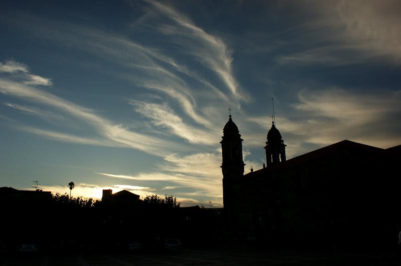O céu pintado pelas nuvens em Cambados