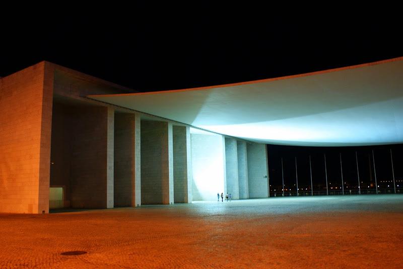 Jogos de luz, pavilhão de Portugal
