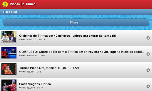 Piadas do Tiririca - screenshot