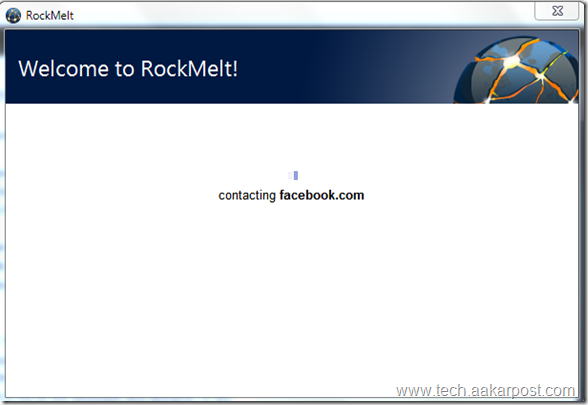 connecting RockMelt