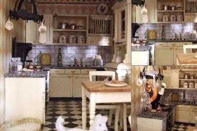 Bellevu keuken weergegeven