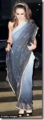Elizabeth Hurley blouse-less see through saree  (3)