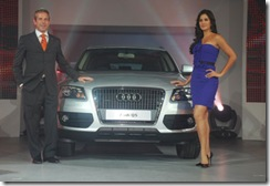 Katrina Kaif looking fabulous in blue at the launch of Audi Q5 in Mumbai...