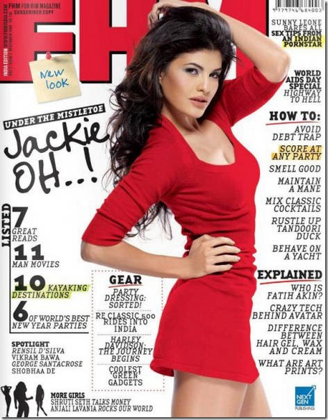 Jacqueline Fernandez is RED HOT in the December 2009 issue of FHM Magazine… (2)