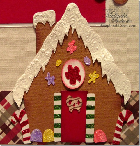 cricut gingerbread house idea cut close up