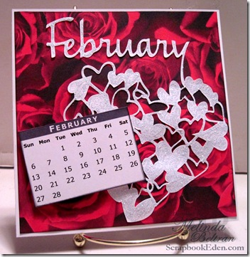 cricut calendar page idea - february