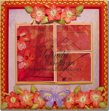 hibiscus layout cricut 500