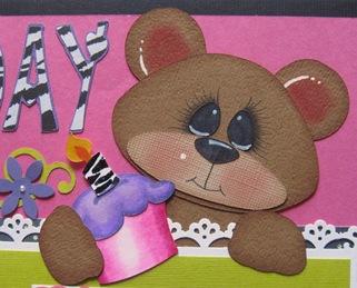 bear topper closeup