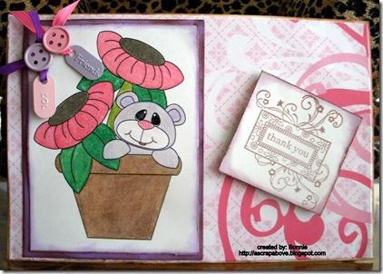 bonnies project bear in flower pot