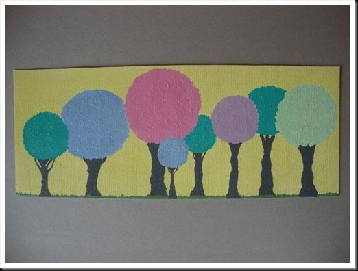 pastel trees