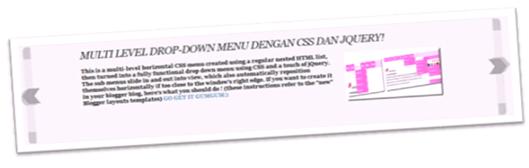 menu slider simple menggunakan JQuery untuk template blogger