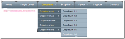 simple dropdown menu dengan CSS