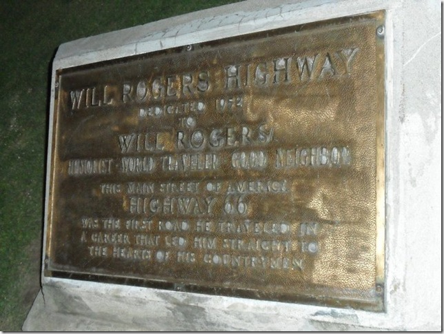 Will Rogers plaque to mark end of Rte.66