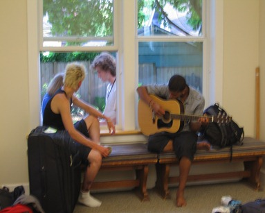 Down time during the 2010 Quaker Youth Pilgrimage