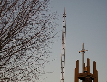 Cross and TV Tower in Richmond, Indiana