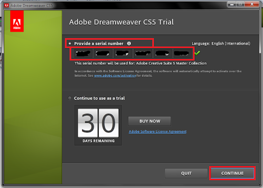 adobe dreamweaver cs 8 serial number