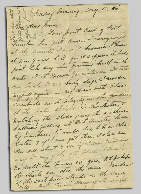 letter fort sumpter copy