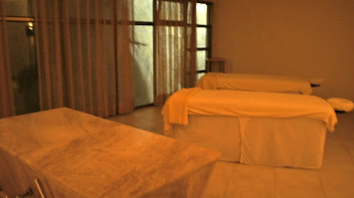 The large and private massage treatment room