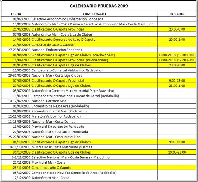 Calendario O Capote 2009