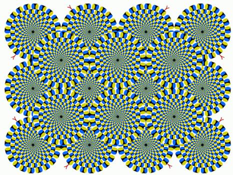 Optical Illusions, Color Blindness Tests, Illusions by Akiyoshi Kitaoka