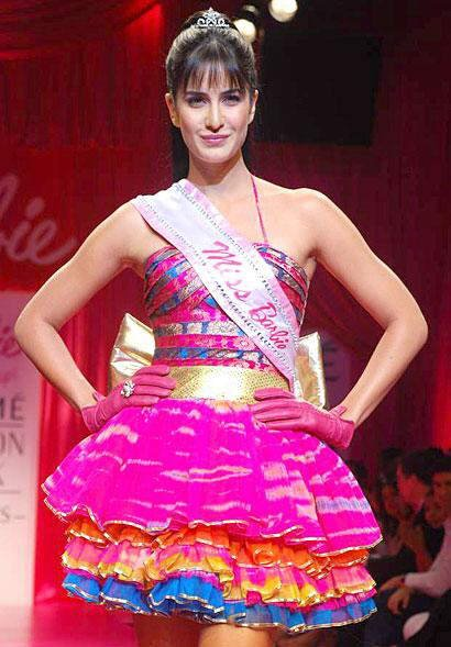 Katrina Kaif as Barbie Doll at Lakme Fashion Week