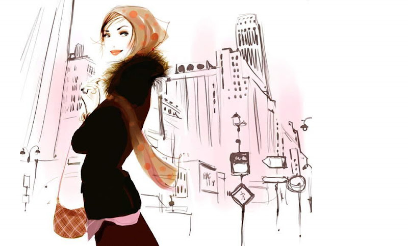 Cool Graphics By Sophie Griotto, young french artist who illustrates beautifully the Parisian woman of today