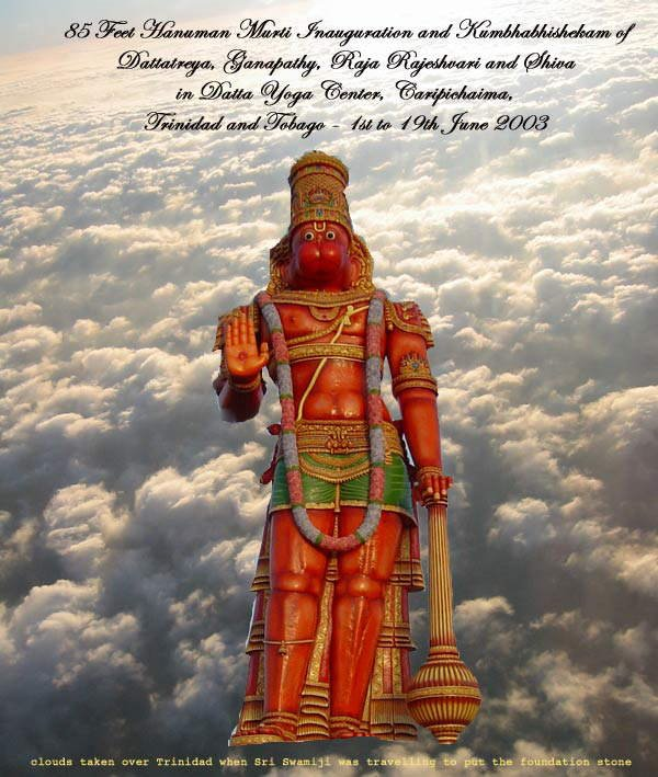Sri Anjaneya Temple West Indies Feet Hanuman Statue Lord