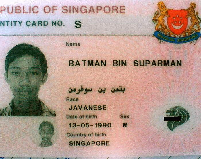 Airport security: What is your Name? Traveler : Batman