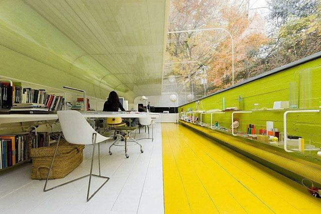 Beautiful Office in Madrid Jungle designed by Spanish architecture firm Selgas Cano
