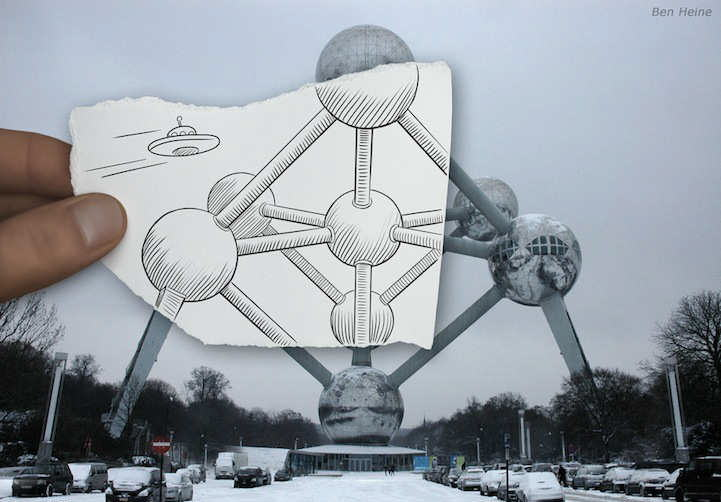 'Pencil Vs Camera' series from Belgian-based artist Ben Heine