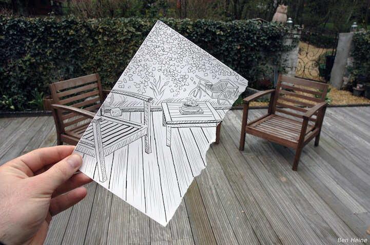 'Pencil Vs Camera' series from Belgian-based artist Ben Heine