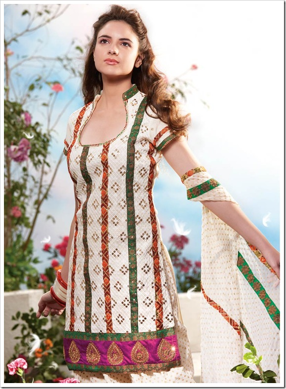 Multicolor patched shirt with patched duppata