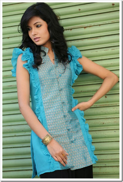 Frilled over princess line stylish kurti