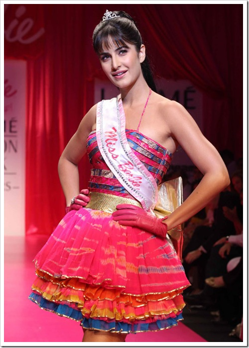 Bollywood actress Katrina kaif as miss barbie