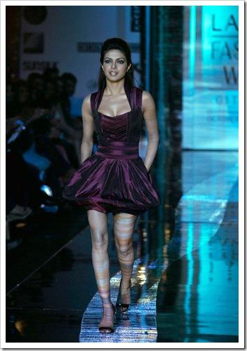 Priyanak chopra walking on ramp for Narendra kumar fashion designer india at Lakme Fashion week in Mumbai